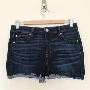American Eagle Hi Rise Shortie dark jean shorts 10
